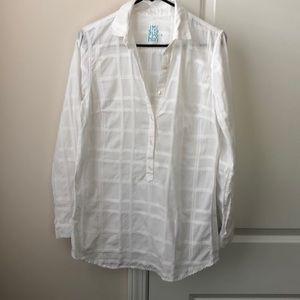 J. McLaughlin White Button-Up Tunic